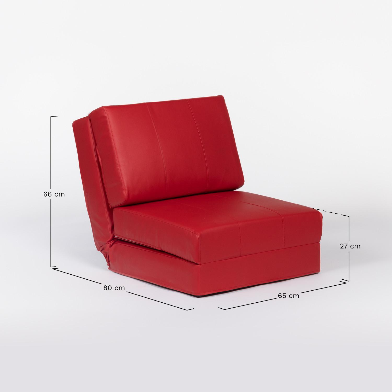 Sofa Kunstleder Rot