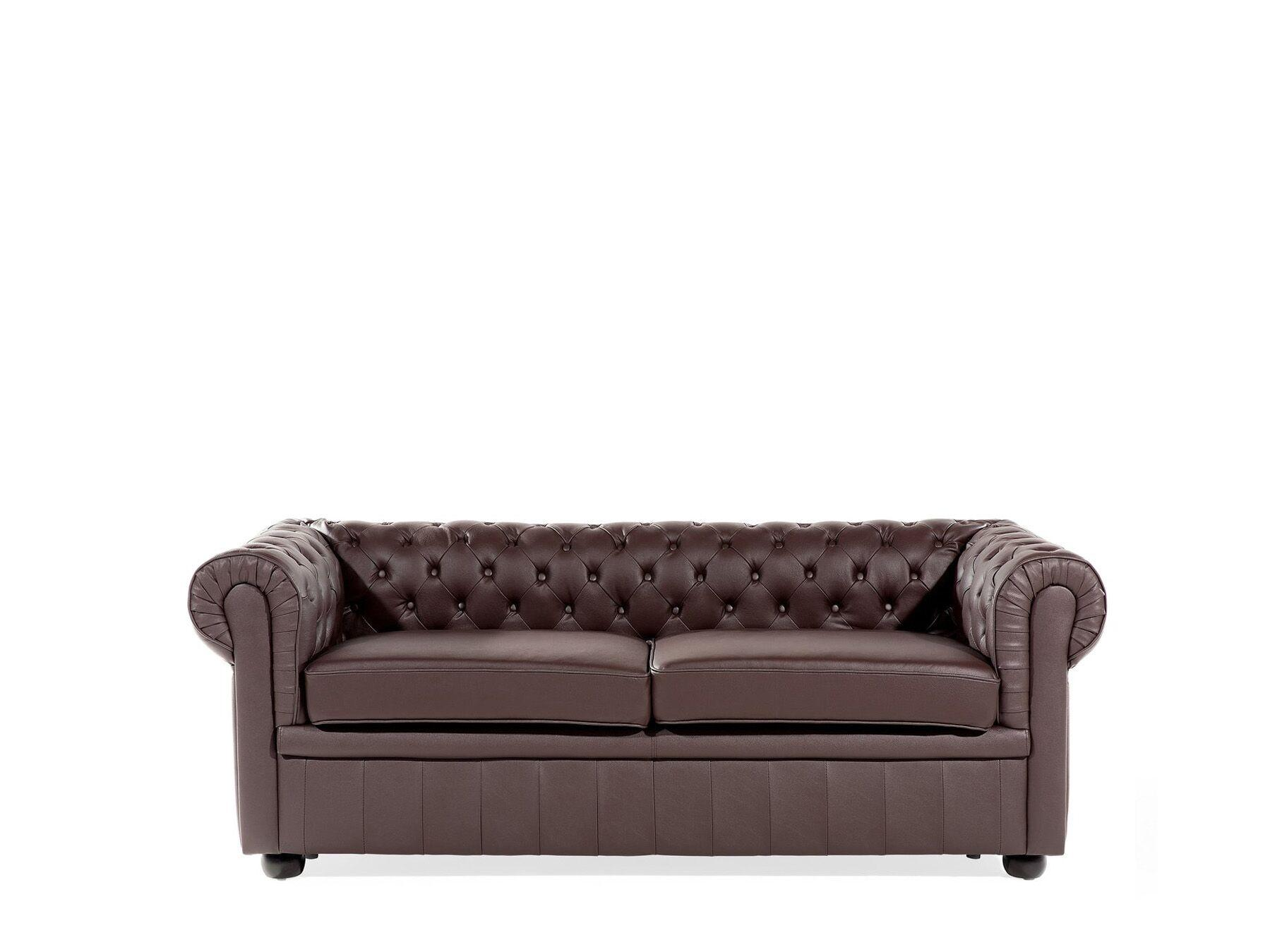 Sofa Leder Braun
