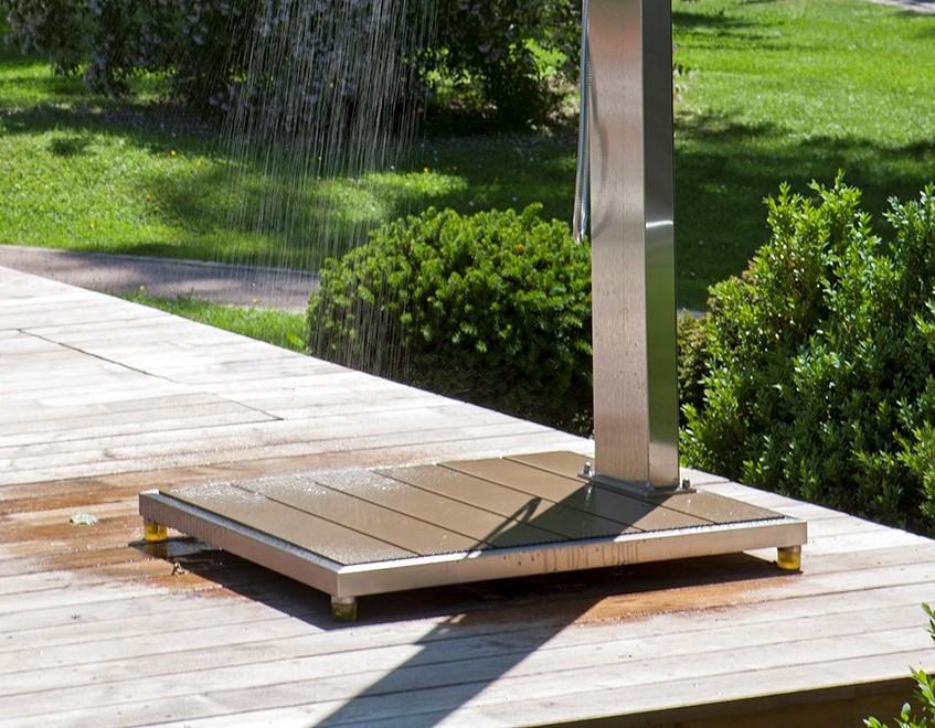 Solar Gartendusche Mit Bodenplatte