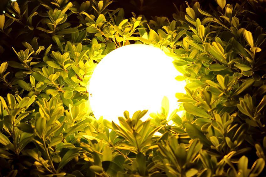 Solar Gartenleuchten Kugel