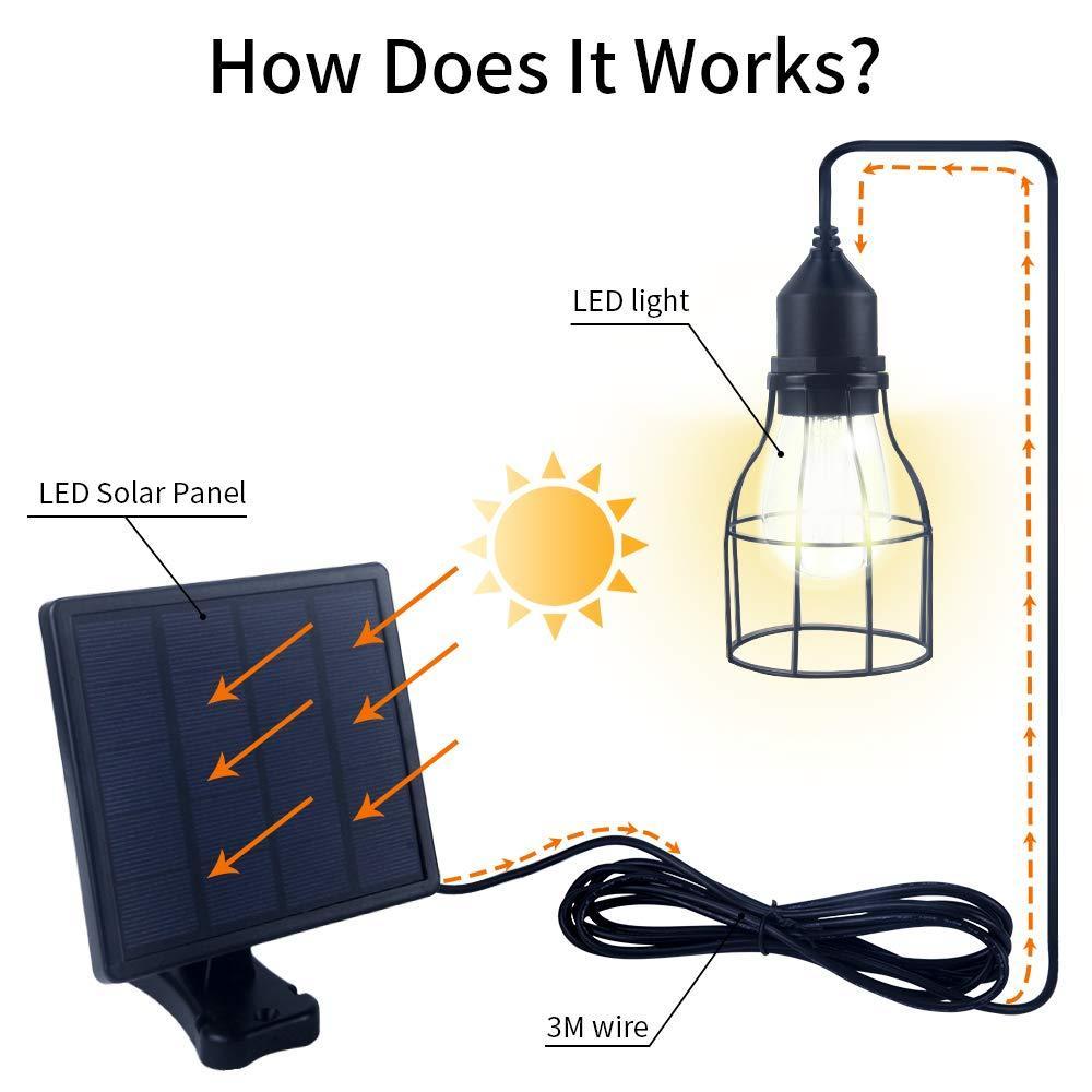 Solar Hängeleuchte Außen