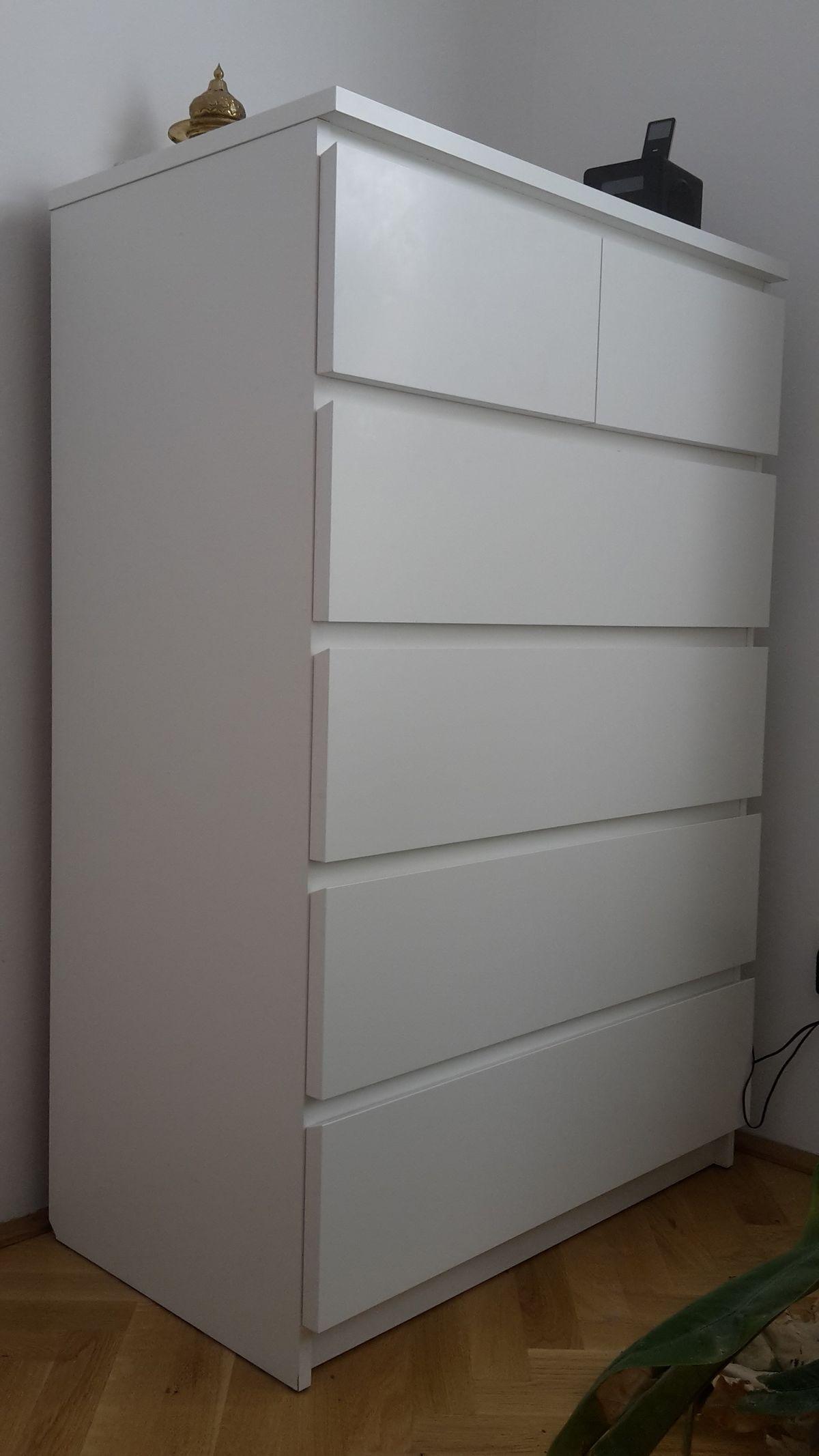 Spiegel Ikea Malm Kommode 6 Schubladen