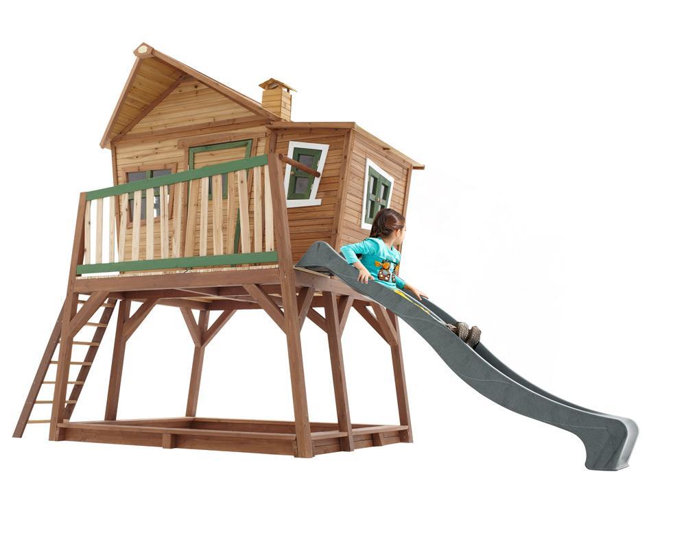 Spielhaus Garten Holz Stelzen
