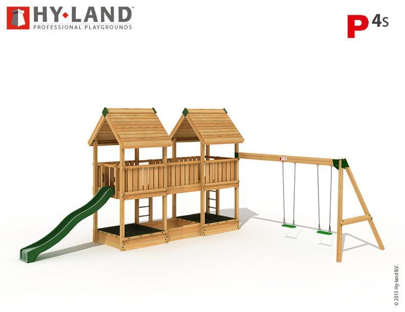 Spielturm Holz Mit Rutsche Und Schaukel