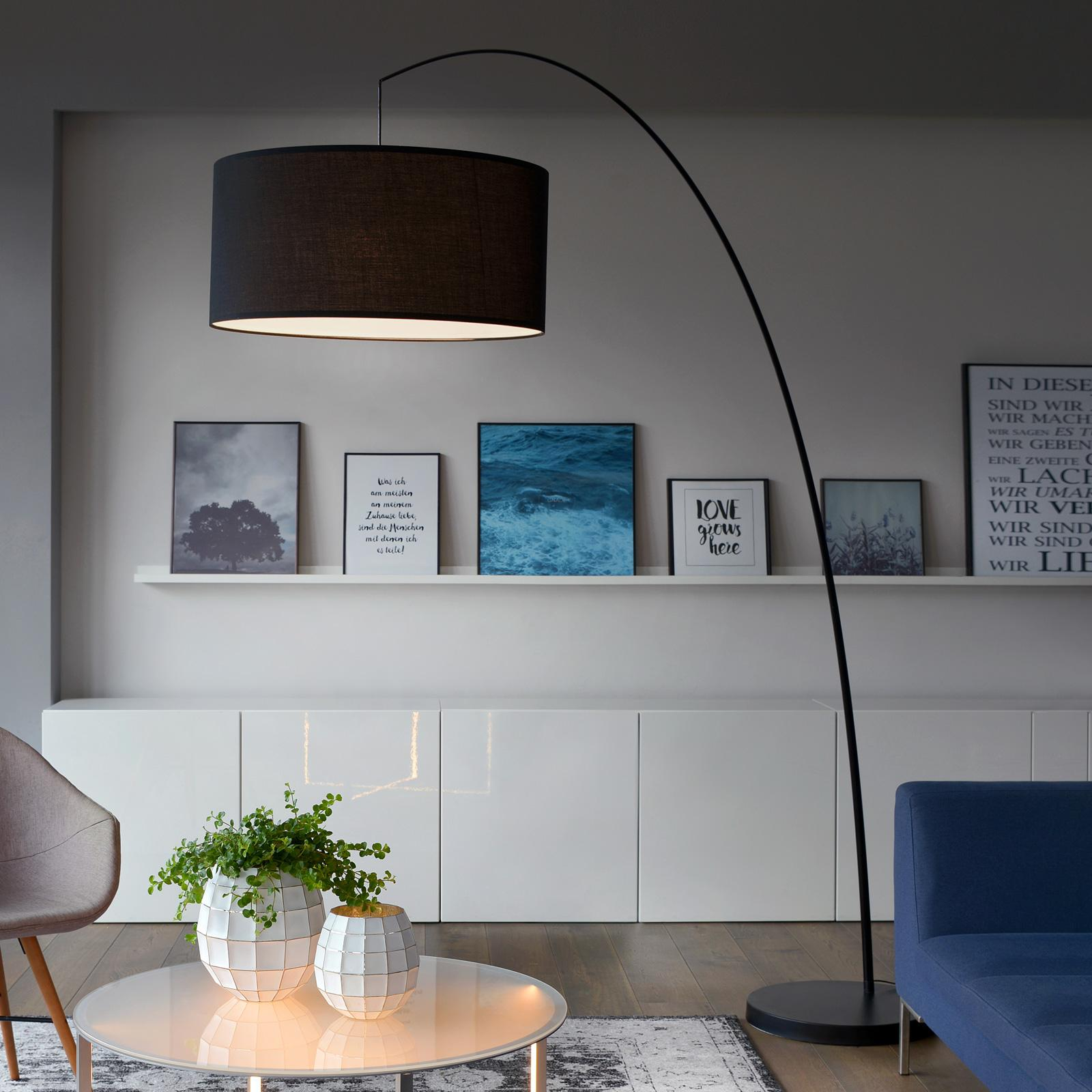 Stehlampe Bogen Schwarz