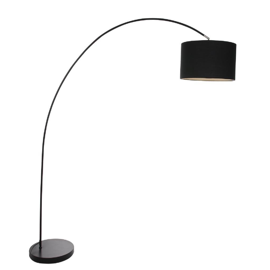Stehlampe Bogenlampe Schwarz