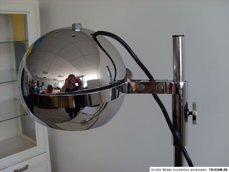 Stehlampe Chrom Kugel