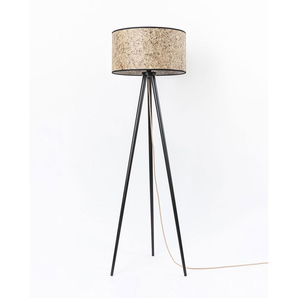 Stehlampe Dreibein Holz