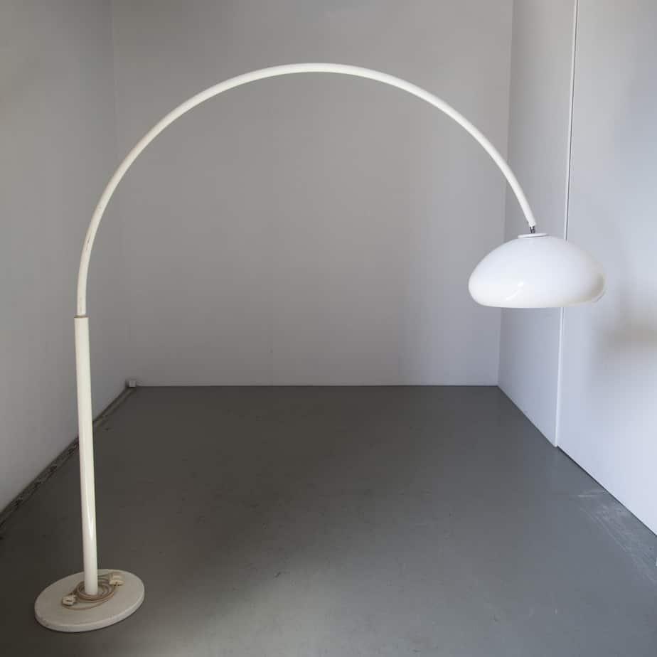 Stehlampe Gebogen Weiß