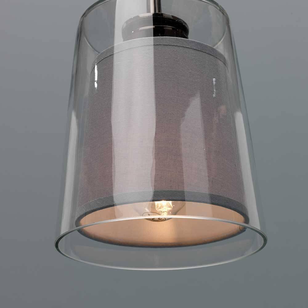 Stehlampe Glas Grau