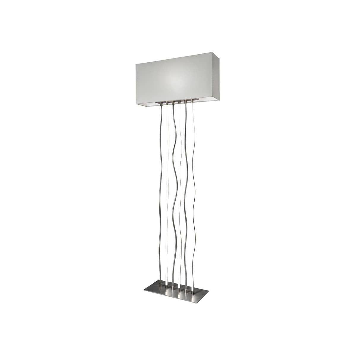Stehlampe Grau Holz