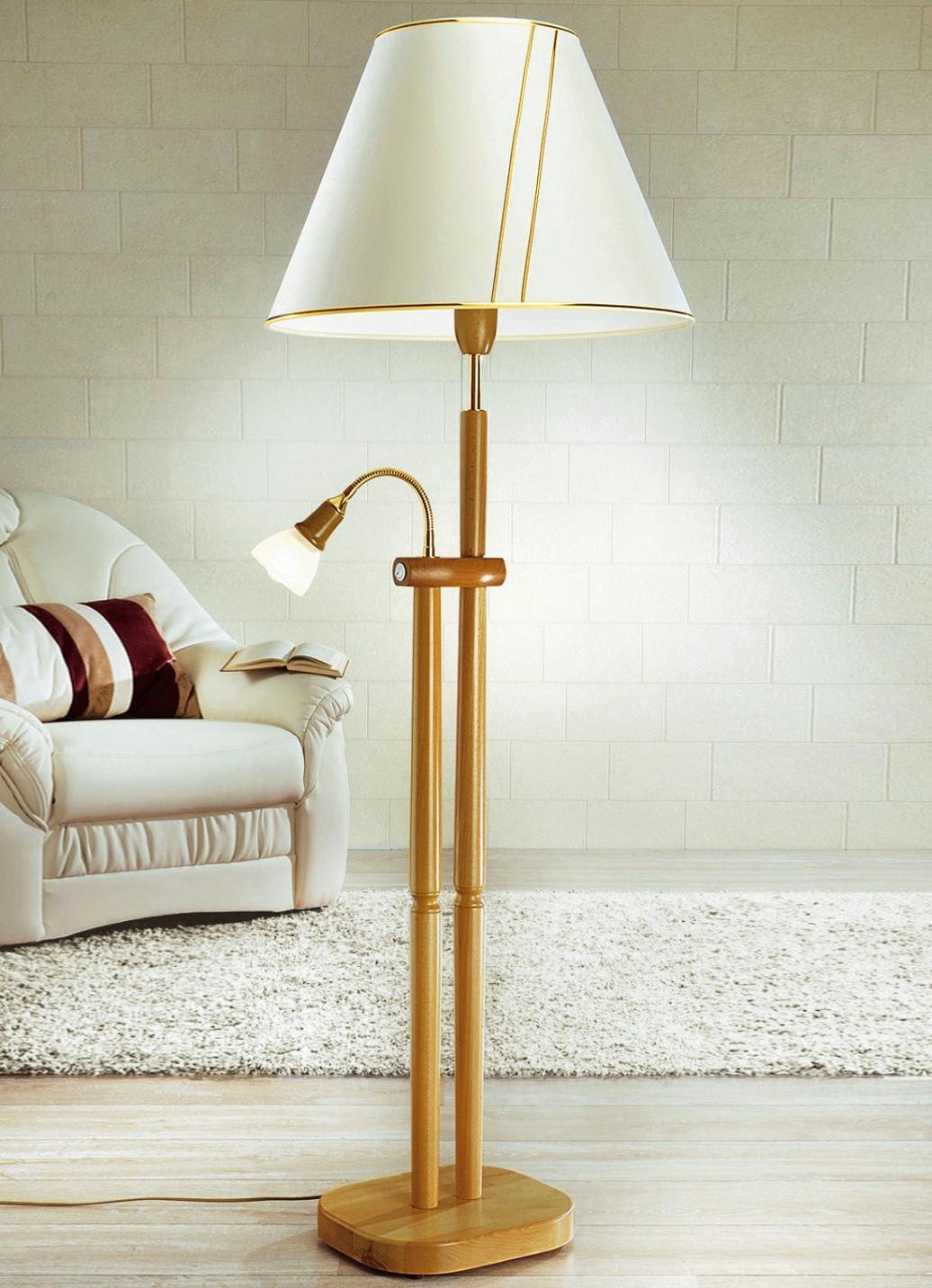 Stehlampe Leselampe Holz