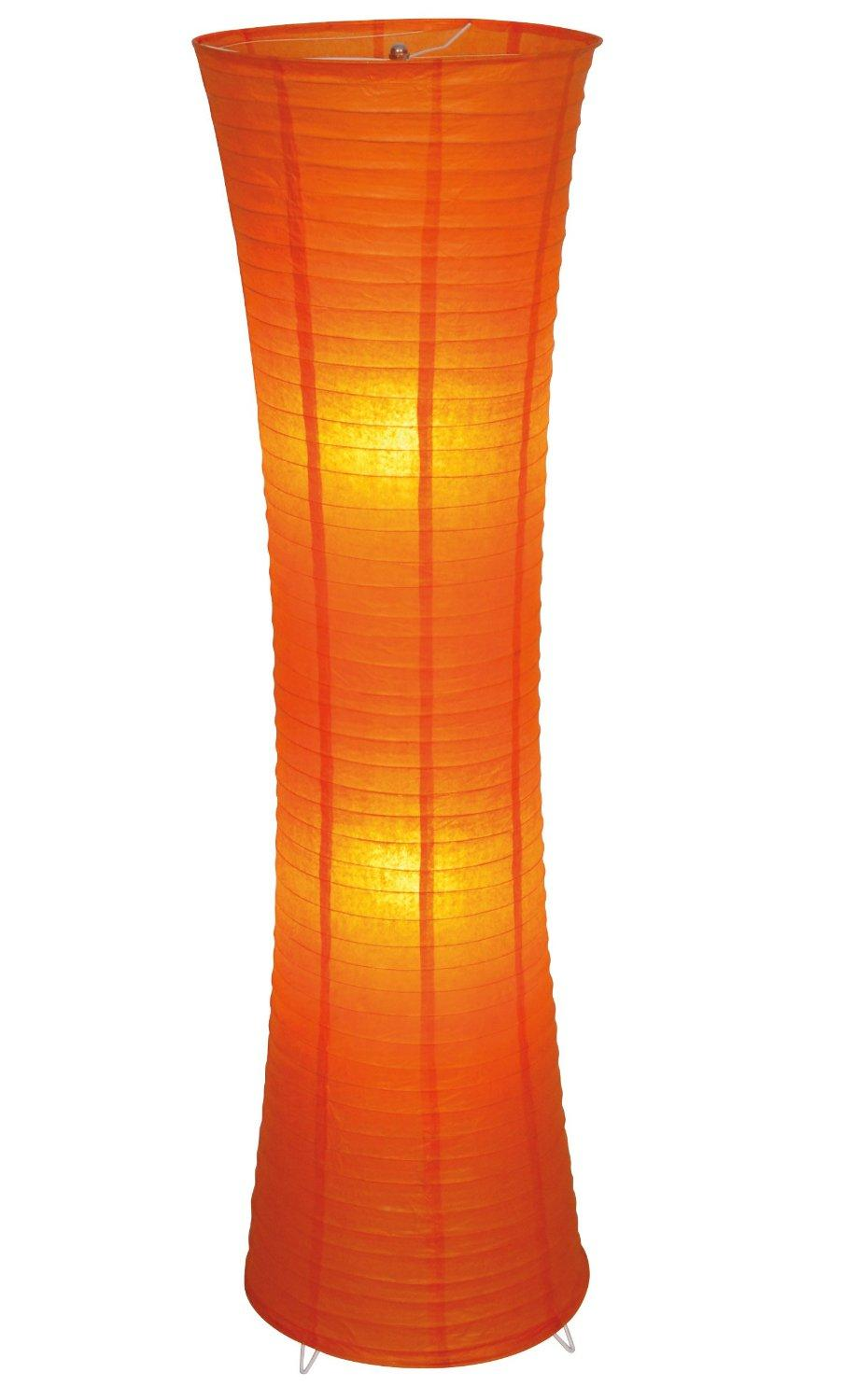 Stehlampe Roter Schirm