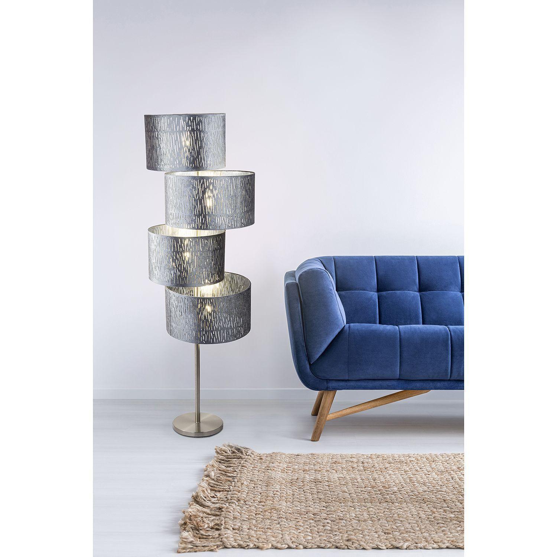 Stehlampe Schwarz Silber