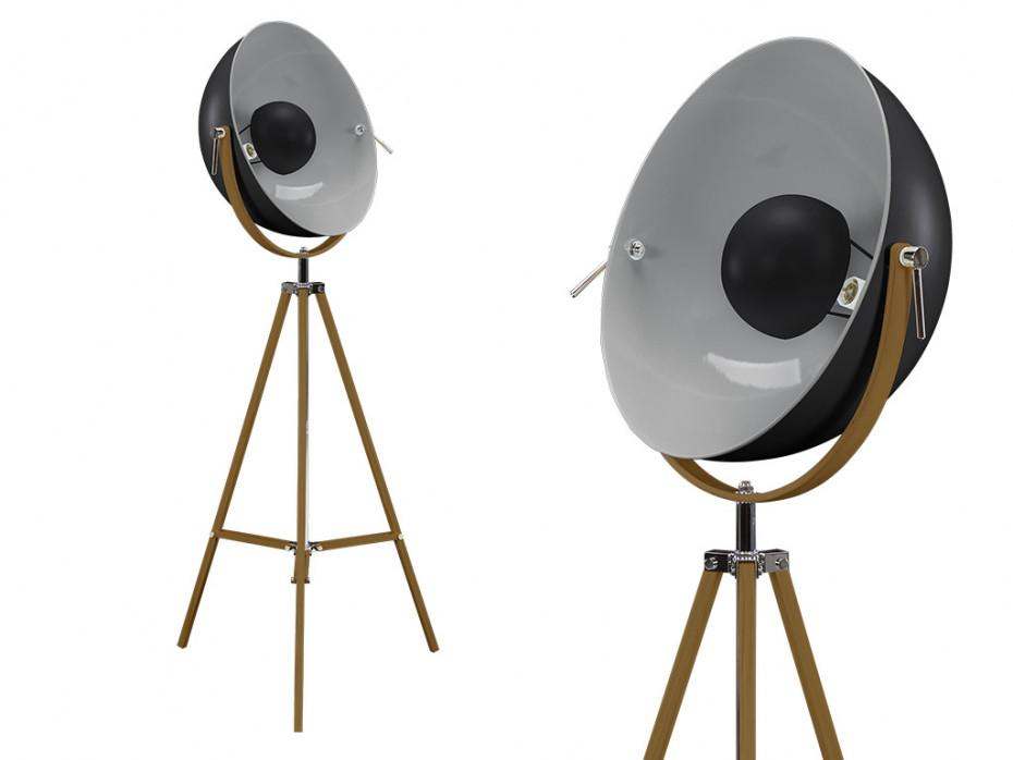 Stehlampe Tripod Holz