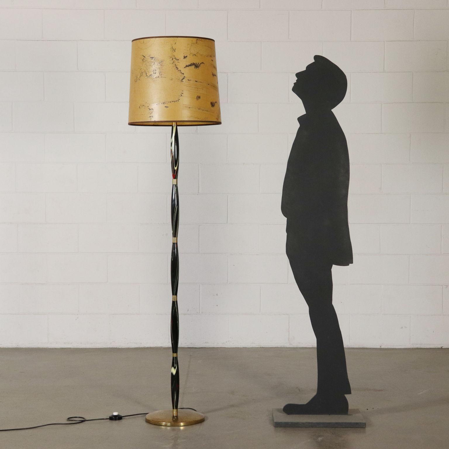 Stehlampe Vintage Holz