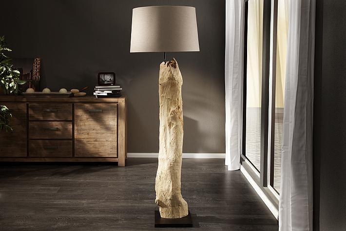 Stehlampen Holz Modern