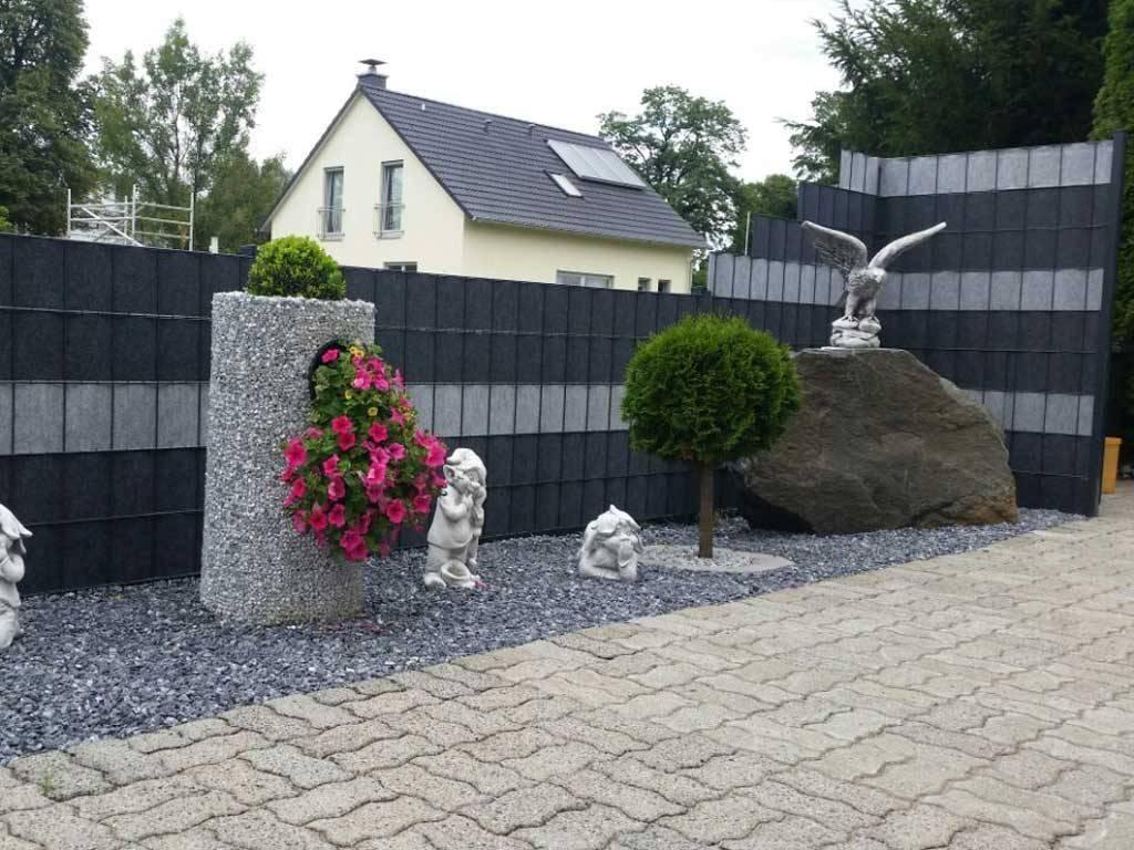 Steinwand Garten Natürlicher Sichtschutz Garten Ideen