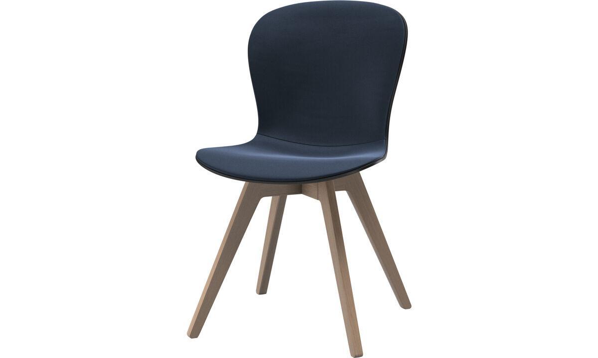 Stuhl Blau Leder