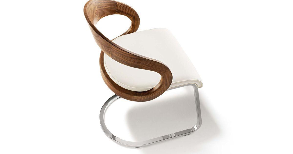 Stuhl Freischwinger Holz