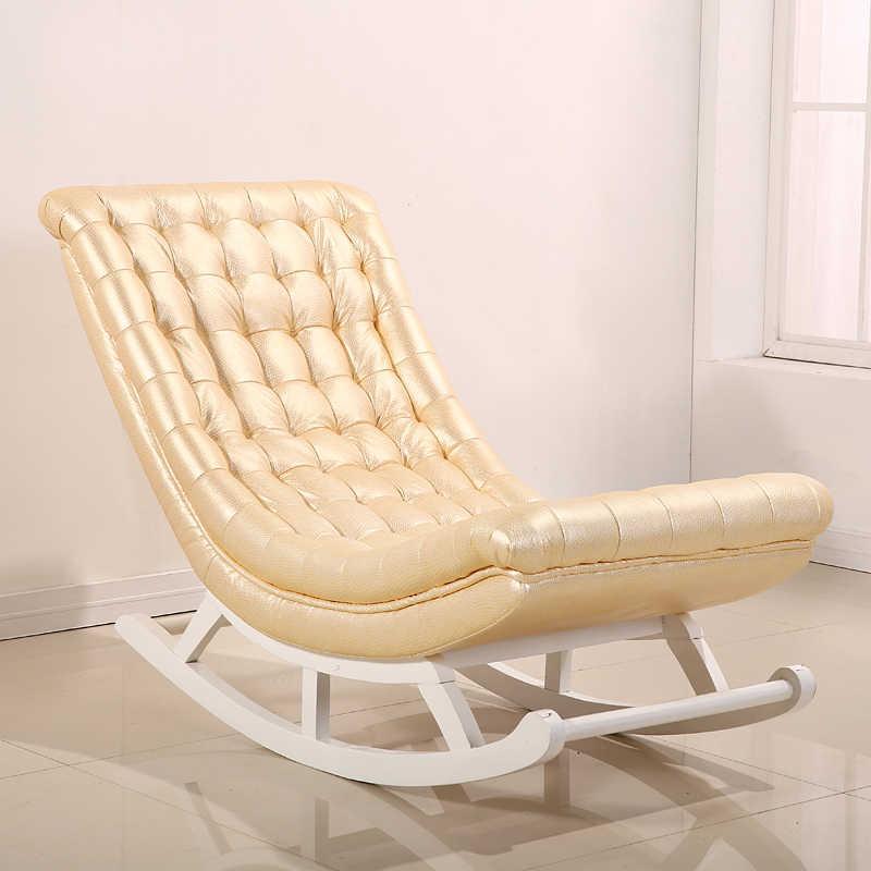 Stuhl Holz Leder Design