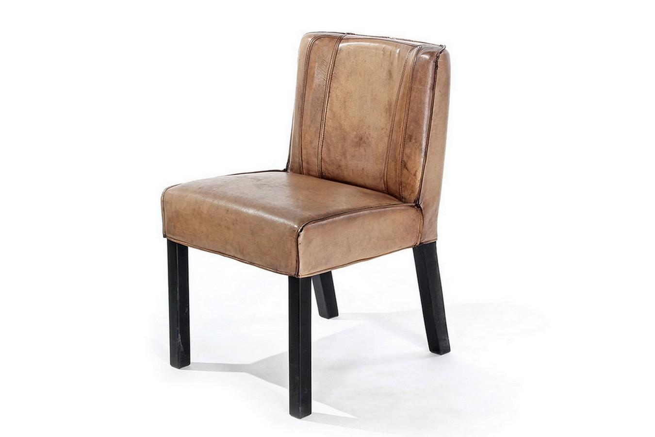 Stuhl Holz Leder