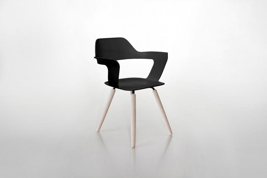 Stuhl Holz Schwarz Design