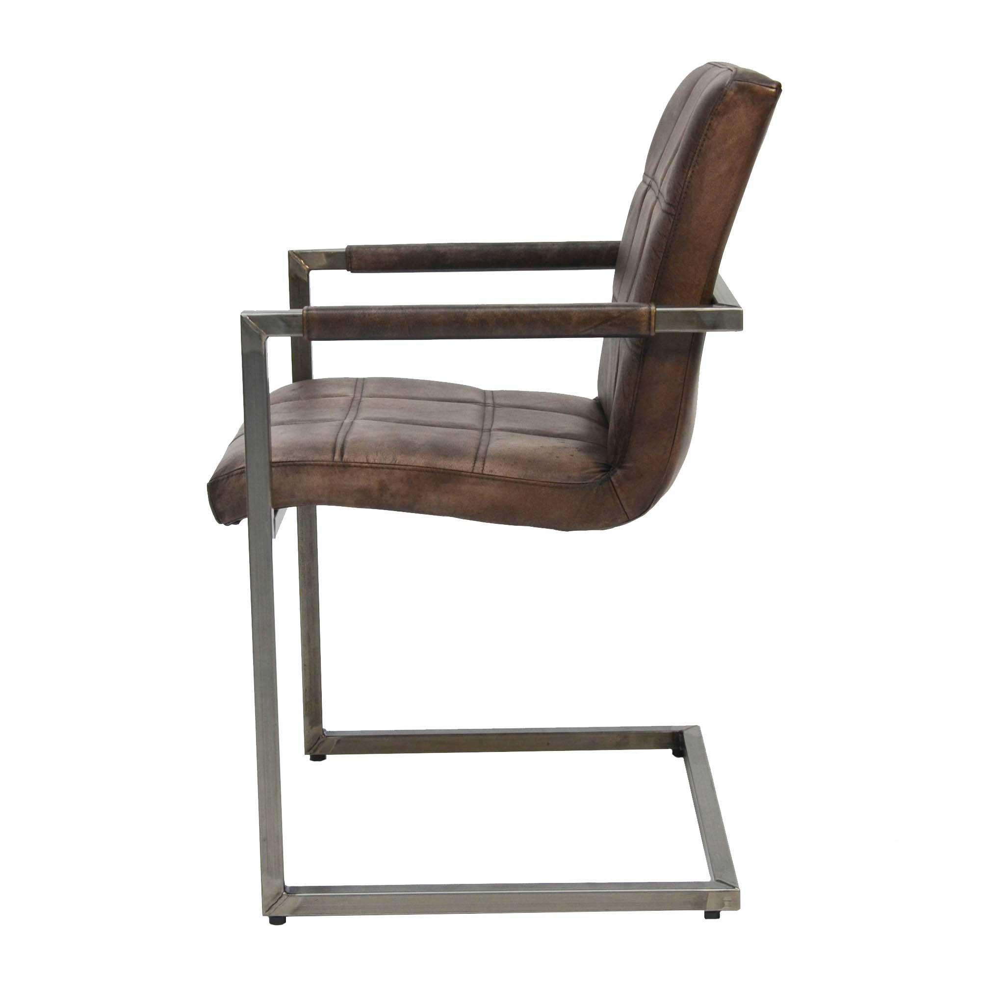 Stuhl Industriedesign Leder