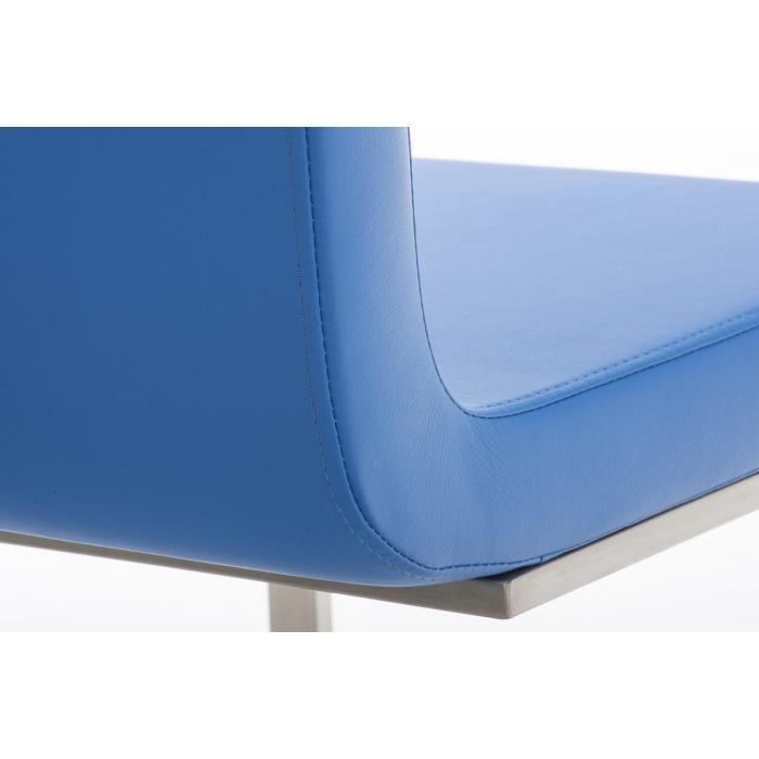 Stuhl Kunstleder Blau
