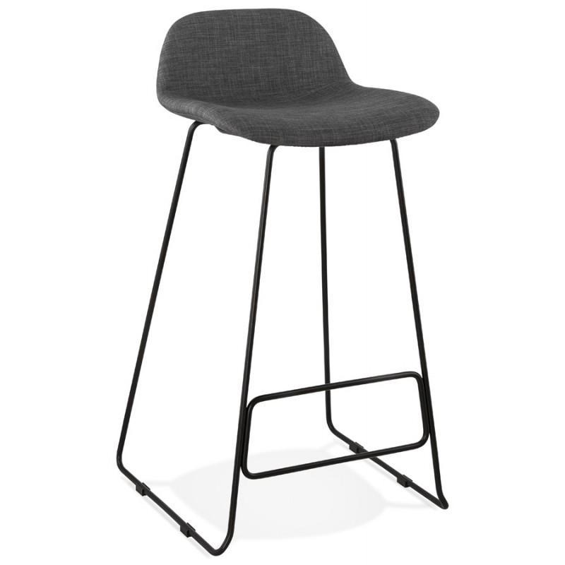 Stuhl Mit Schwarzen Metallbeinen