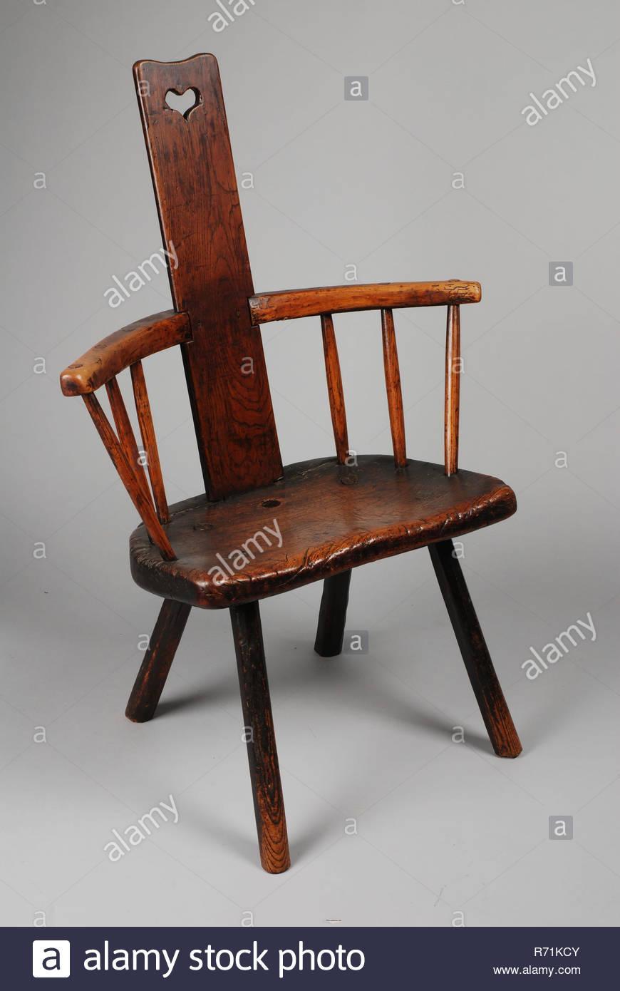 Stuhl Runde Lehne Holz
