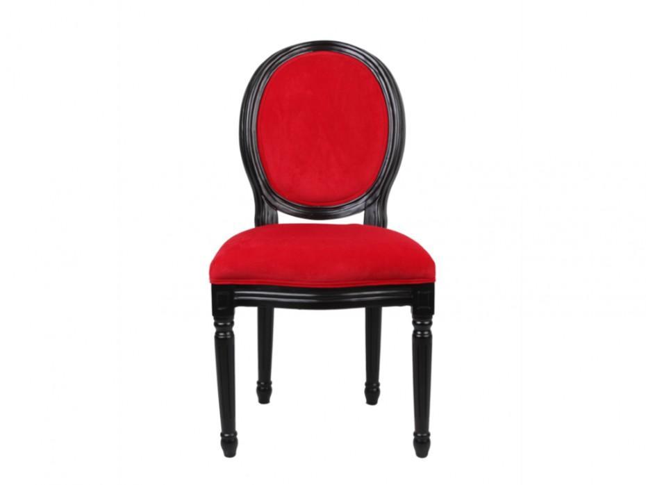 Stuhl Samt Rot