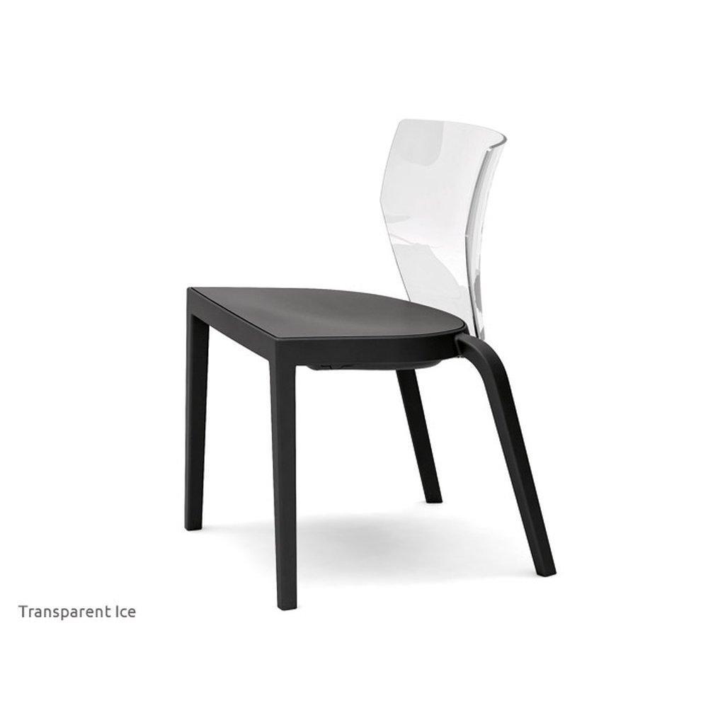Stuhl Transparent Schwarz