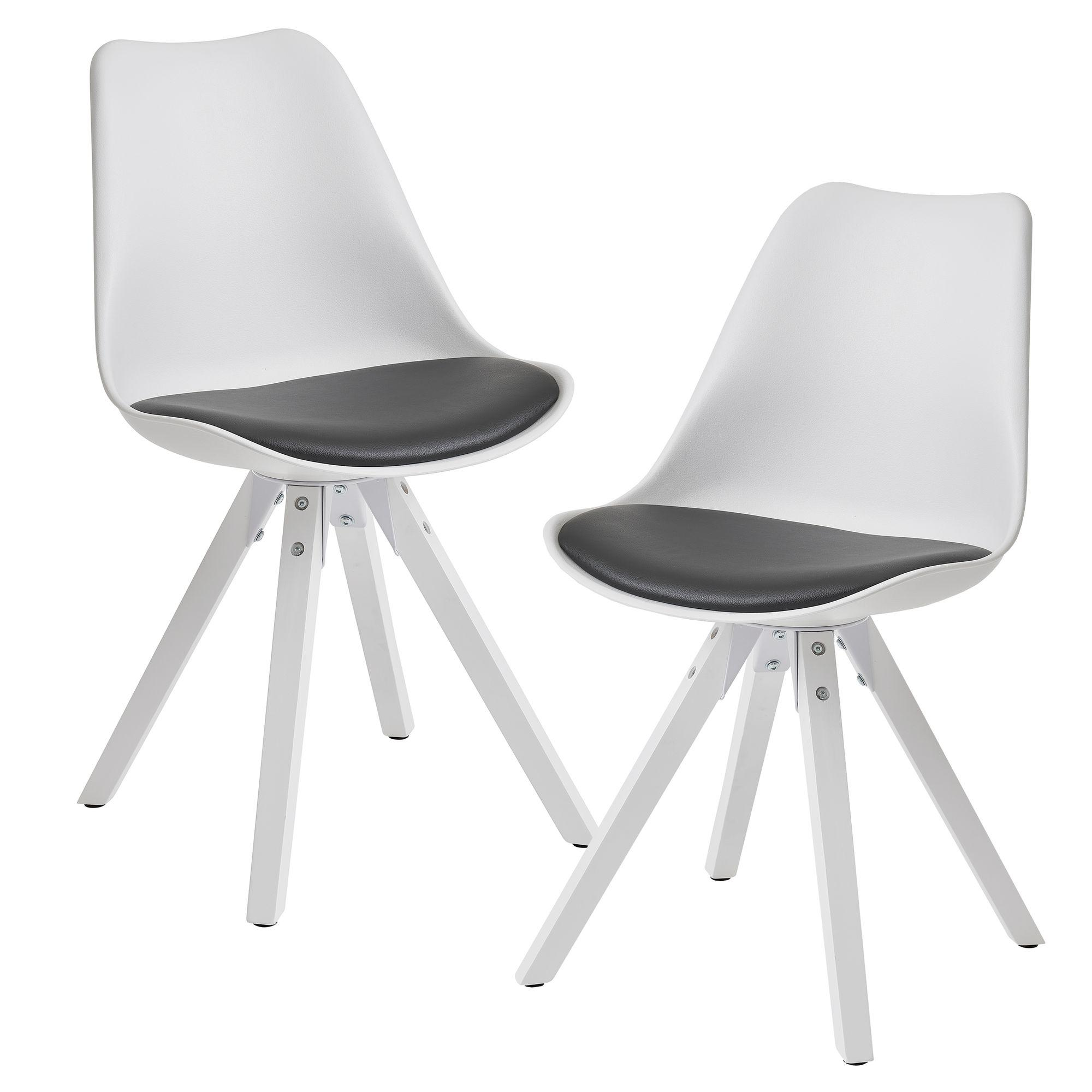 Stuhl Weiß Schwarze Beine