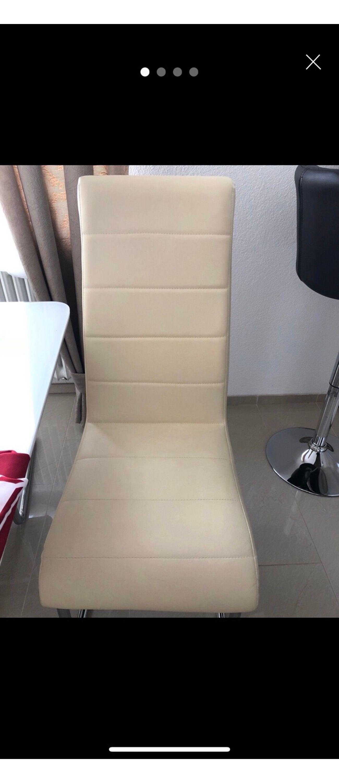 Stühle Beige Creme