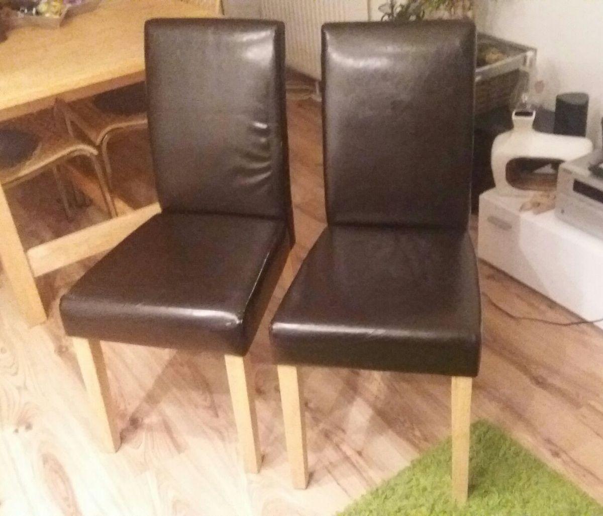 Stühle Kunstleder Braun