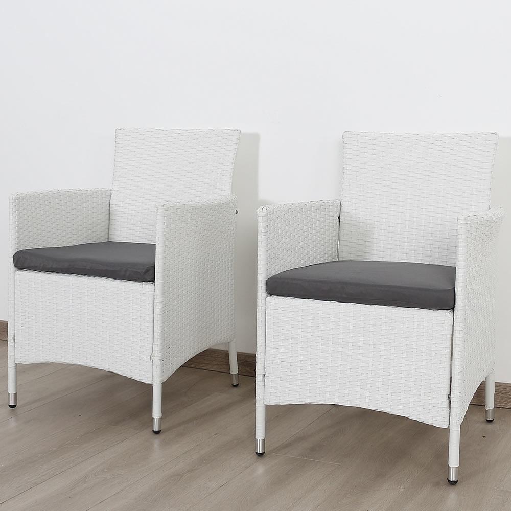 Stühle Rattan Weiss