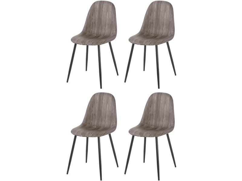 Stühle Samt Grau 4er Set