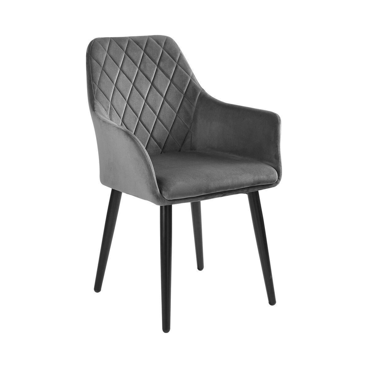 Stühle Samt Grau