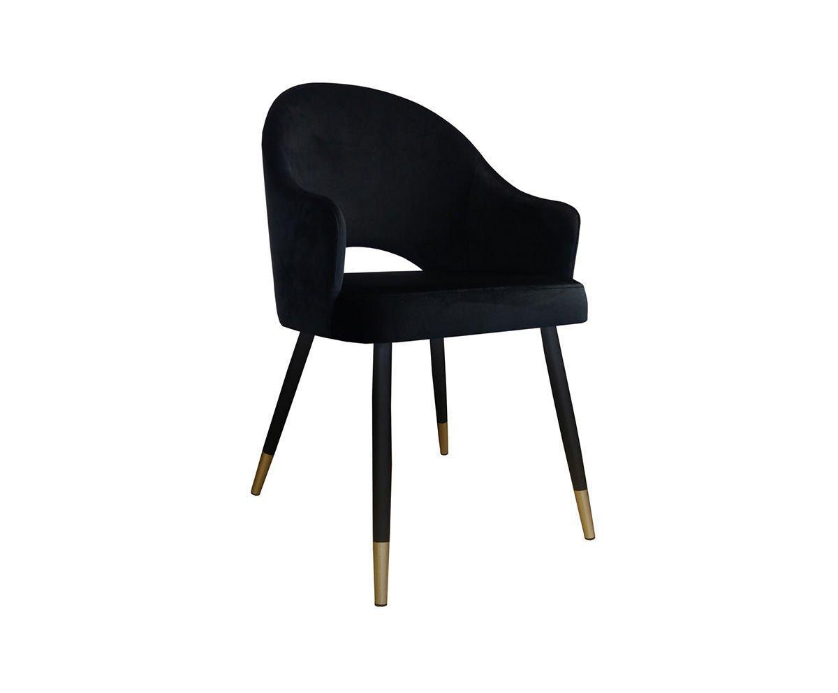 Stühle Schwarz Goldene Beine