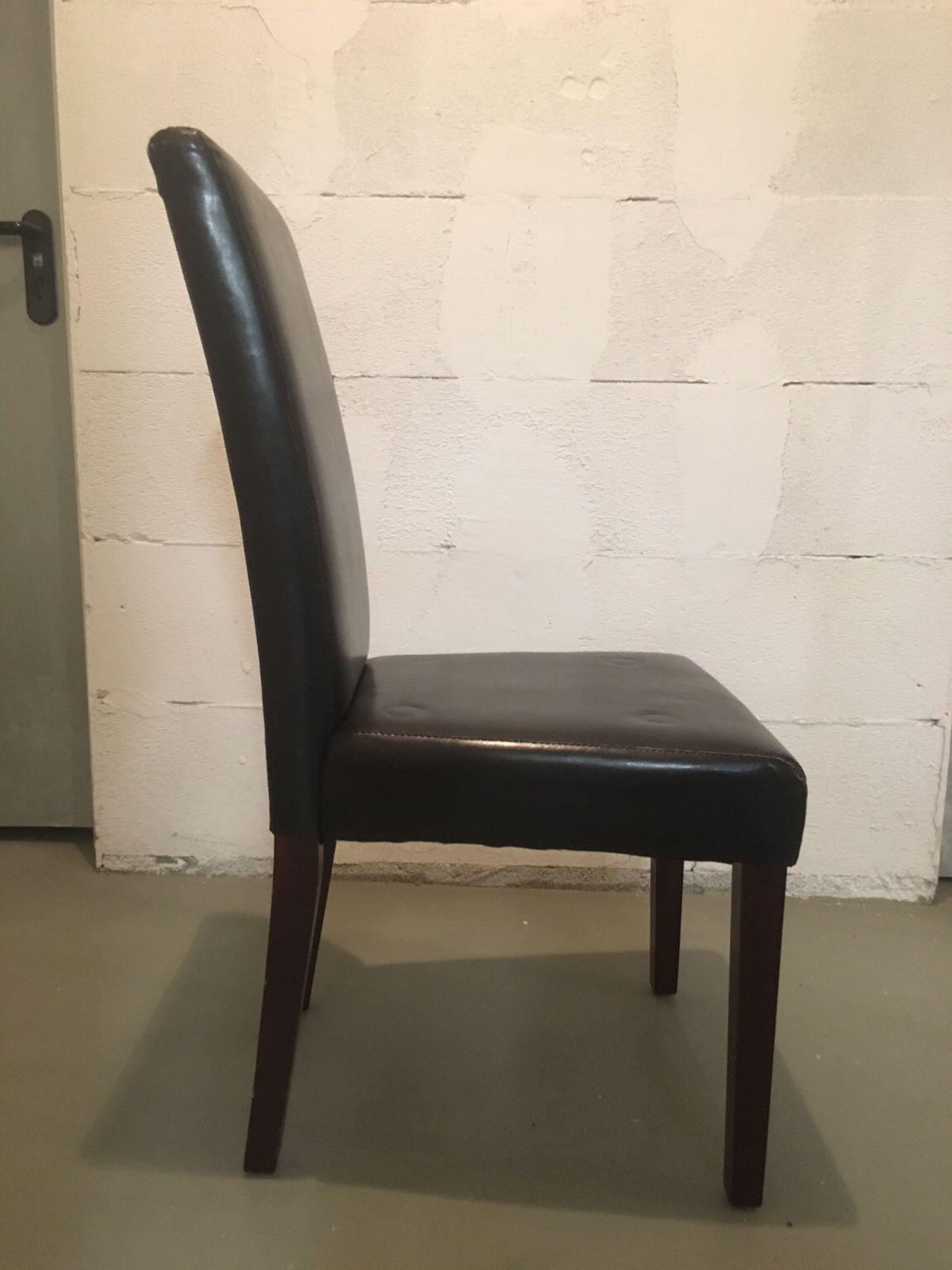 Stühle Schwarz Kunstleder