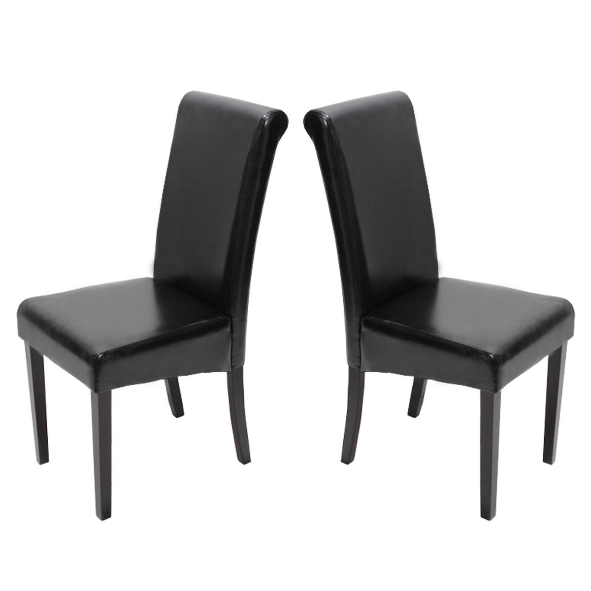 Stühle Schwarz Leder