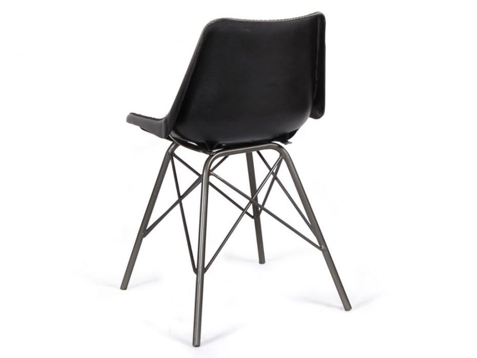 Stühle Schwarz Metall