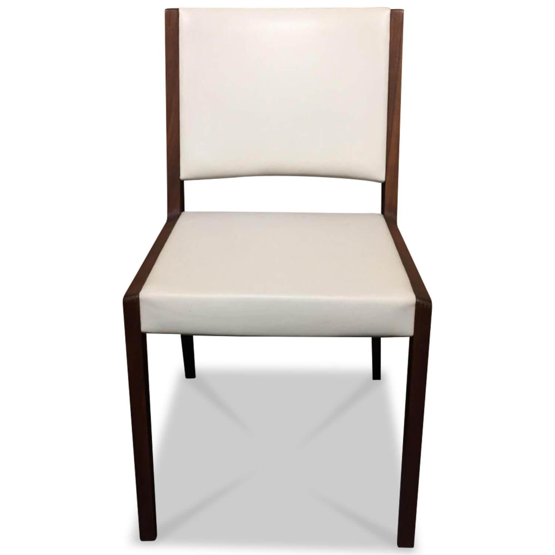 Stühle Weiß Leder