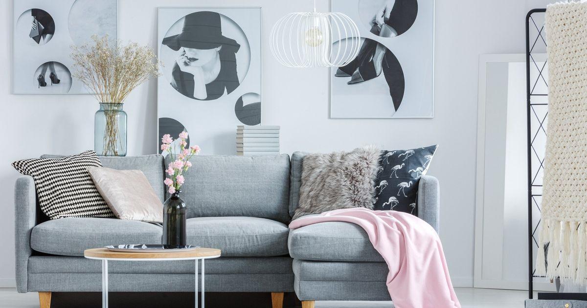 Tapeten Für Wohnzimmer Dunkle Möbel