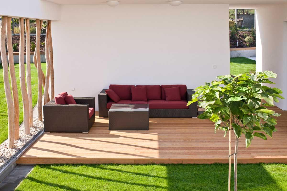 Terrassenabtrennung Mit Pflanzen