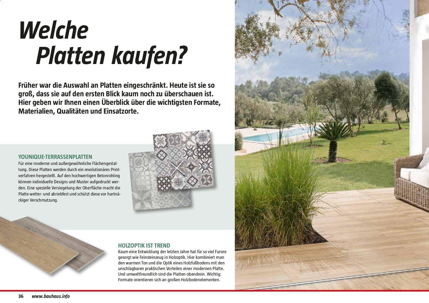 Terrassenplatten Holzoptik Bauhaus
