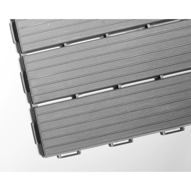 Terrassenplatten Kunststoff Holzoptik