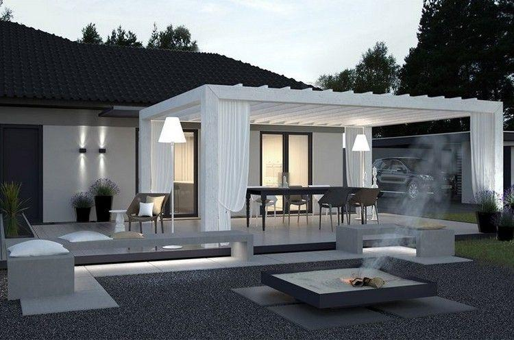 Terrassenüberdachung Modernes Haus