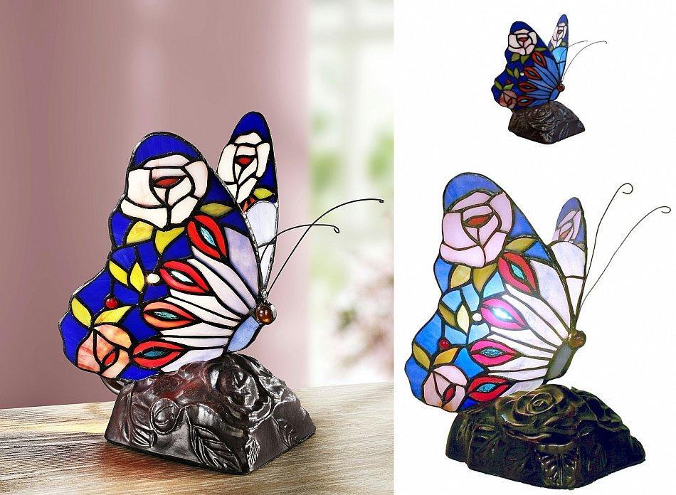 Tiffany Tischlampe Schmetterling